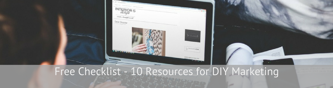 Free Checklist - 10 Resources for DIY Marketing